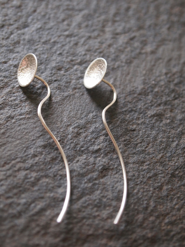 Silver Stud Earrings - Unusual Earrings - Unique Jewellery