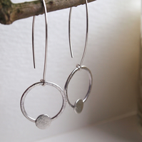 Hoop Earrings, silver hoops