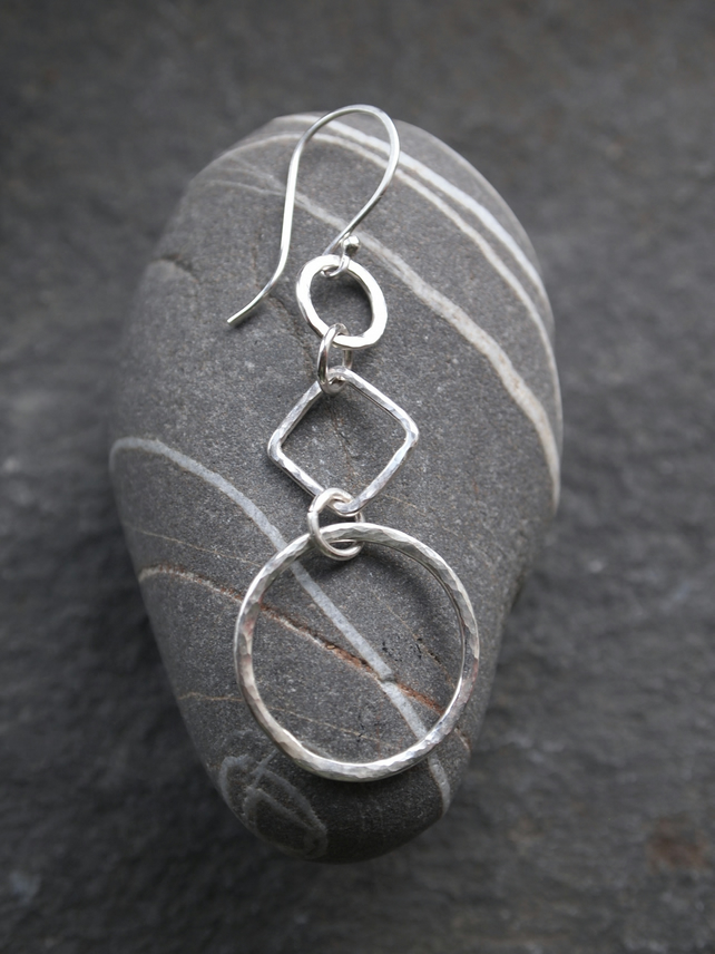 Hoop Earrings, Silver Earrings
