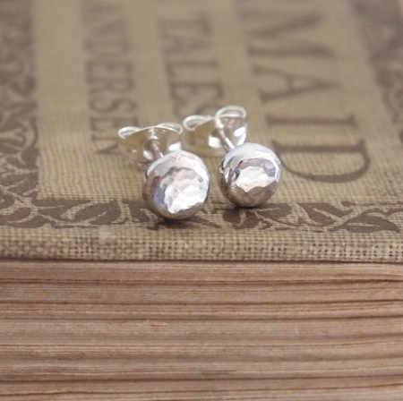 stud earrings, silver stud earrings