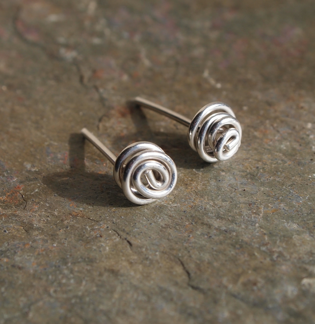 Small Earrings, Stud Earrings, Twist Knot Earrings