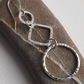 Sterling Silver Dangly hoop diamond earrings