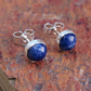 7mm Blue sodalite stud earrings.