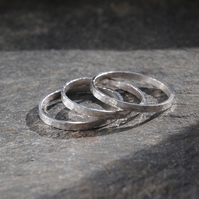 Silver rings, set of 3 stacking rings