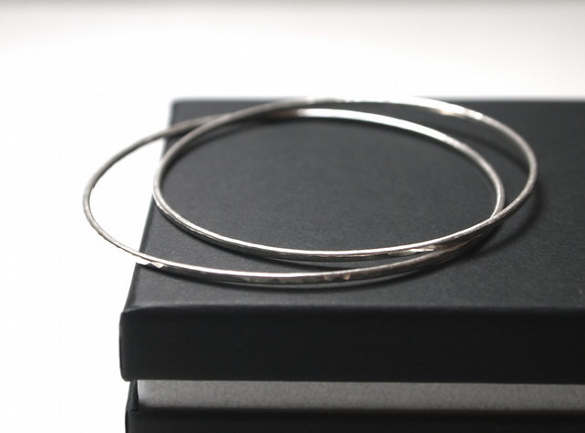 Silver bangle, silver stacking bangle