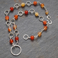 Sterling silver and carnelian necklace hallmarked