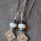 silver and opalite earrings