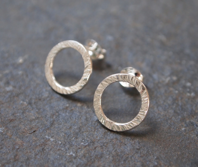 Earrings, Silver Ring Studs