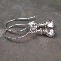 silver earrings, silver earrings