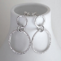 Sterling silver Hoop Earrings, silver hoop studs