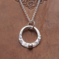 Silver Pendant, silver ring necklace pendant