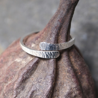 Silver Ring - Forged Silver Ring