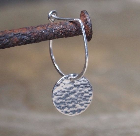 disc earrings, sterling silver