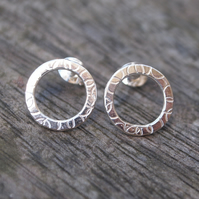 Studs, silver studs, silver ring stud earrings