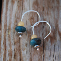 Dangle drop earrings, jasper & jade
