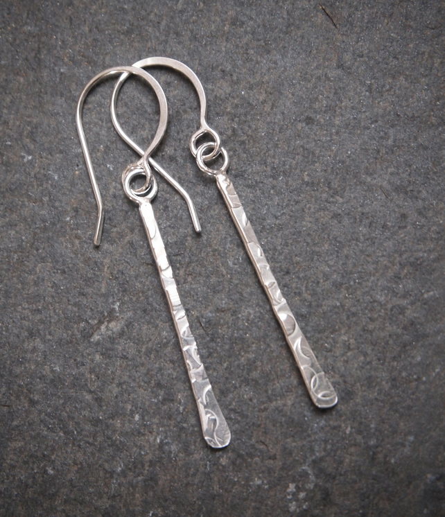 Earrings, sterling silver dangle earrings.