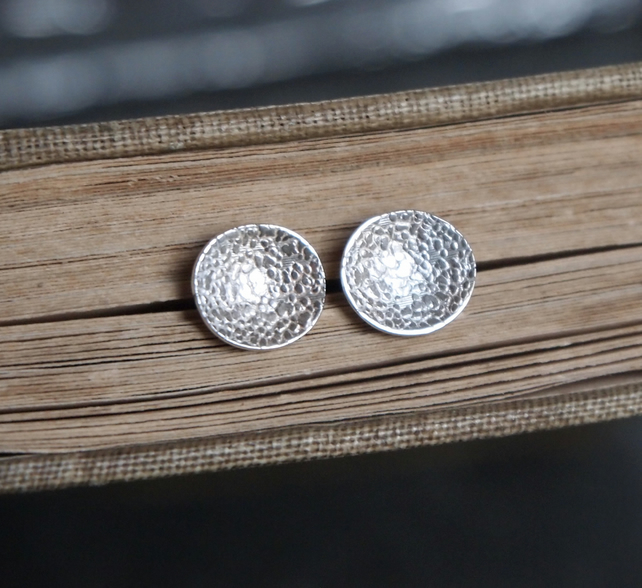 Stud Earrings, Argentium Silver Stud Earrings