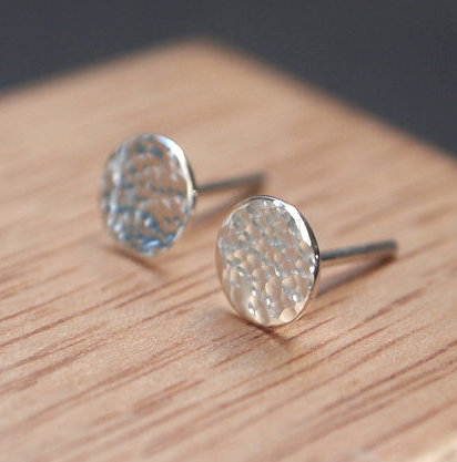 studs, Argentium silver stud earrings