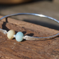 Sterling silver bangle with frosted Amazonite