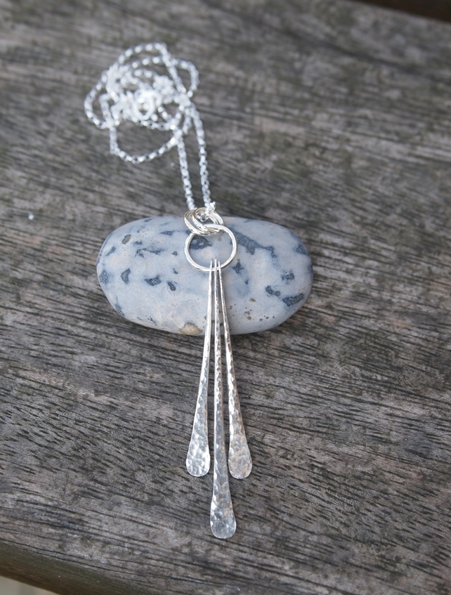 Necklace, silver necklace, forged necklace, handmade silver jewellery