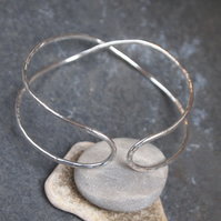 """SALE""  Silver Bangle, Infinity Bangle, Hallmarked silver jewellery"