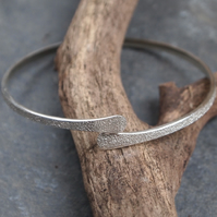 Forged Silver Bangle, Solid Silver Bangle