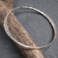 Solid Silver Bangle, forged bangle