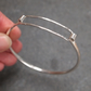 Silver Bangle Bracelet, Hallmarked, Handmade