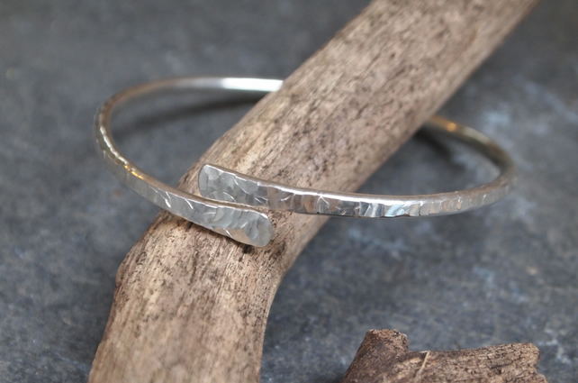 Silver Bangle, Forged Bangle
