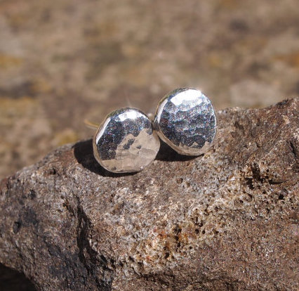 Argentium silver studs - 7mm stud earrings