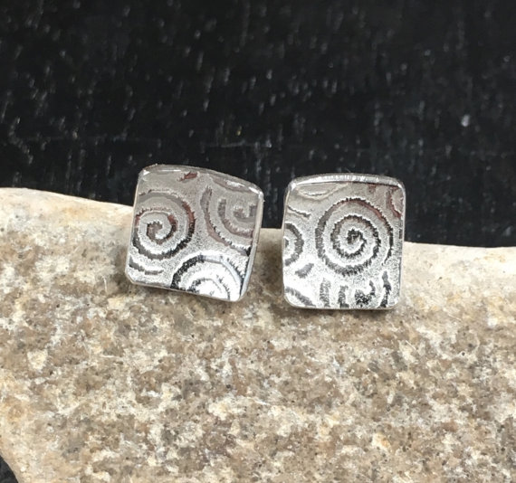 Studs, square stud earrings