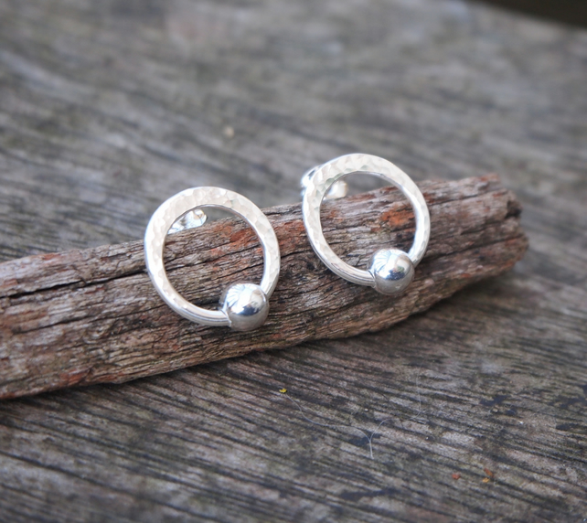 Earrings, silver hoop earrings