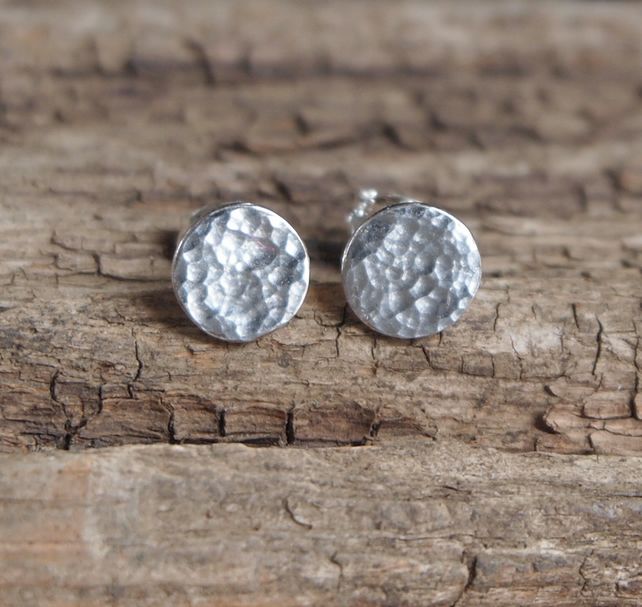 Stud Earrings, Argentium Silver Studs, handmade jewellery