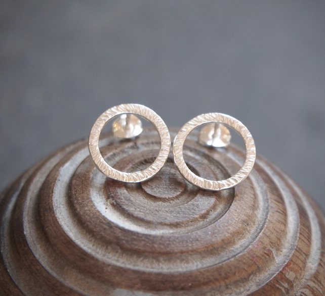 Earrings, Silver Ring Stud earrings