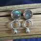 Labradorite earrings, silver stud earrings