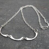 silver necklace, chain necklace