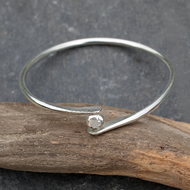 Silver Bangle, Pebble Bangle