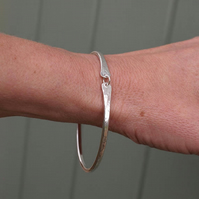 Bangle, sterling silver bangle, hallmarked silver