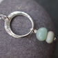 Amazonite Pendant, silver ring pendant, sterling silver