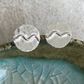 Silver wave earrings, Sterling silver studs