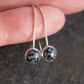 Snowflake Obsidian Silver Drop Earrings