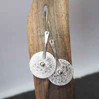 Hallmarked, Large Sterling Silver Disc Earrings, ARC Jewellery