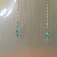 Sterling Silver and Sky Blue Apatite Drop Earrings