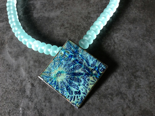 Enamelled Copper Pendant