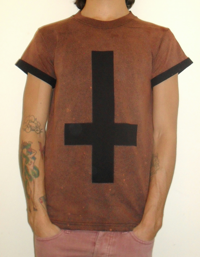 Hand Made Inverted Cross Tshirt