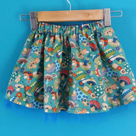 Toadstool party skirt 18-24 months 86-92 cms