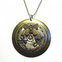 Antique Bronze Pendant and Chain