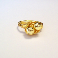 Gold Plated Wire Wrapped Ring