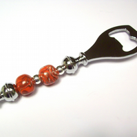 Statement Bottle Opener with Handmade Beads