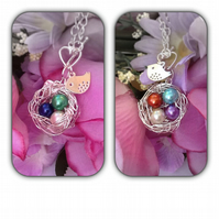 Personalised Birth Month Nest Necklace